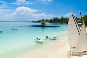 Strand op Mauritius