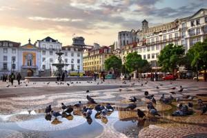 Het centrum van Lissabon.